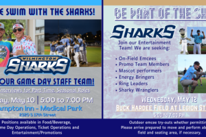 Sharks To Hold Two Hiring Events For Game Day Staff, May 10 & 12