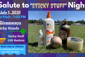 """Wilmington Sharks to Host """"Salute to Sticky Stuff"""" Night July 1"""