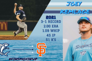 2021 Shark Kemlage signs with Giants organization