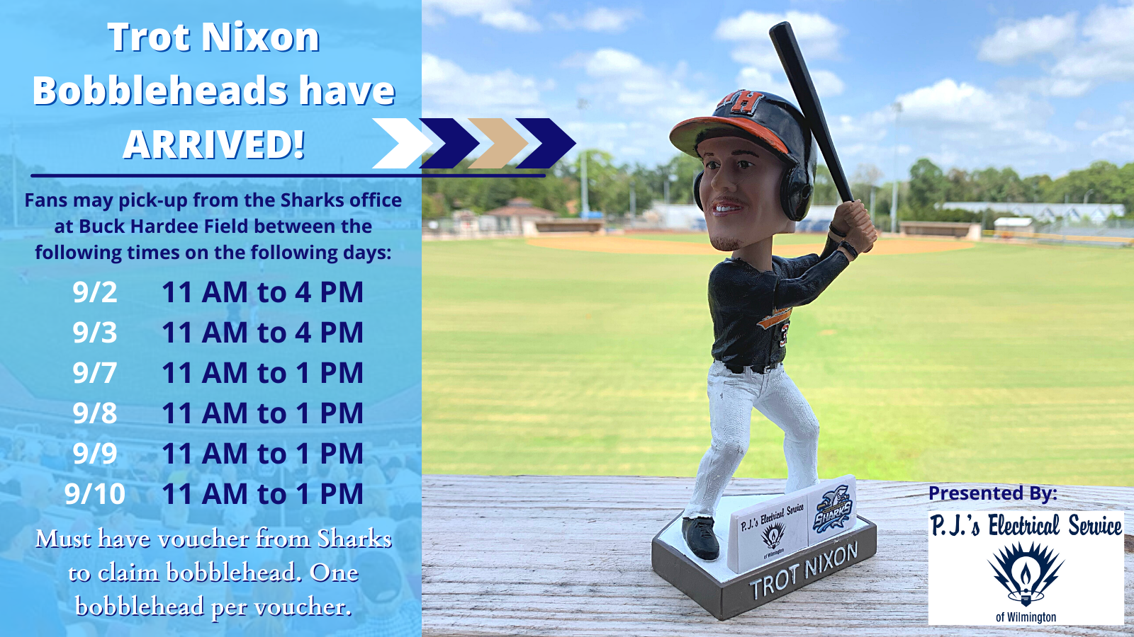 Trot Nixon Bobbleheads Available for Pick-up Beginning 9/2