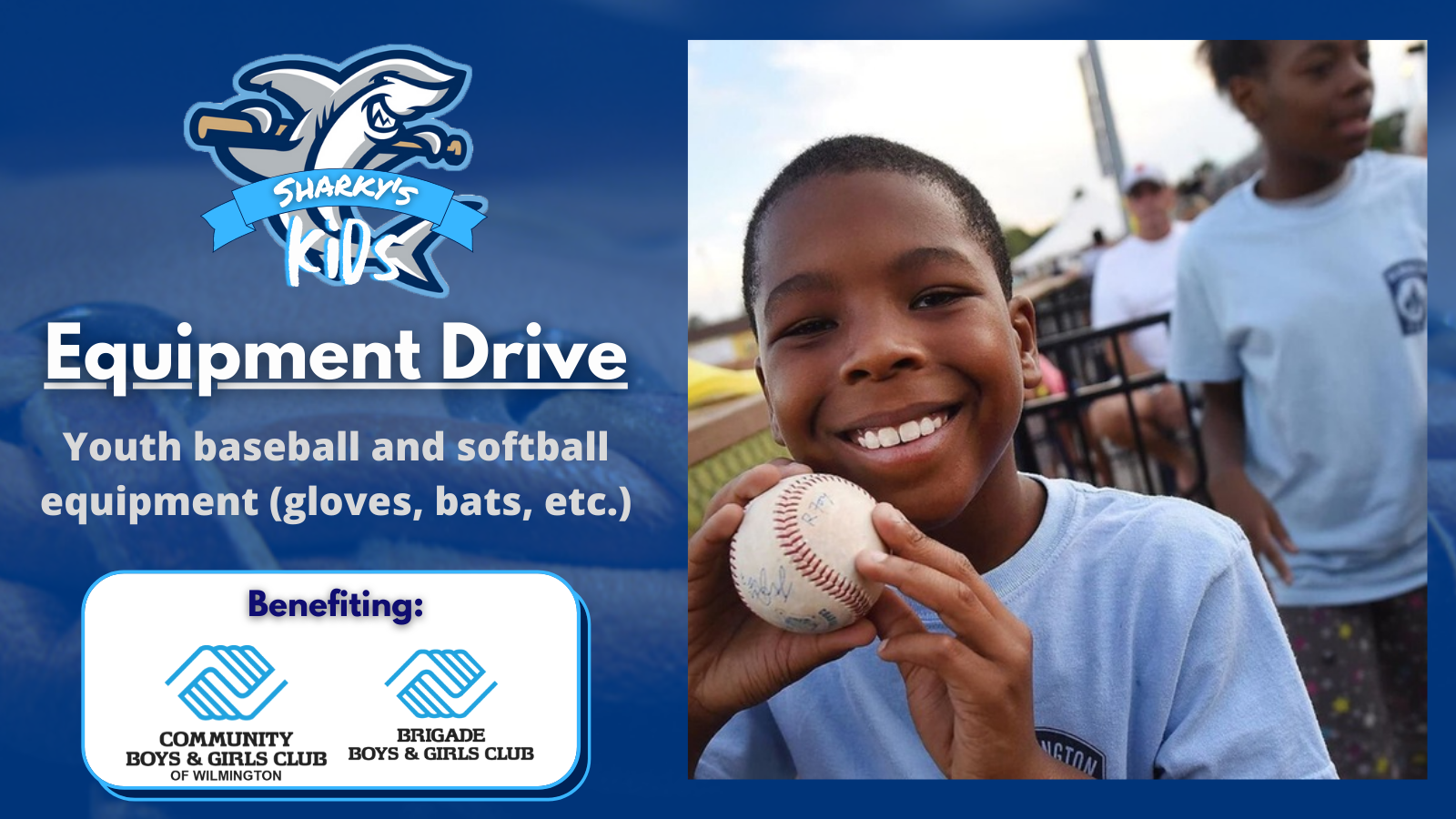 Sharks accepting youth baseball equipment donations for Boys and Girls Clubs
