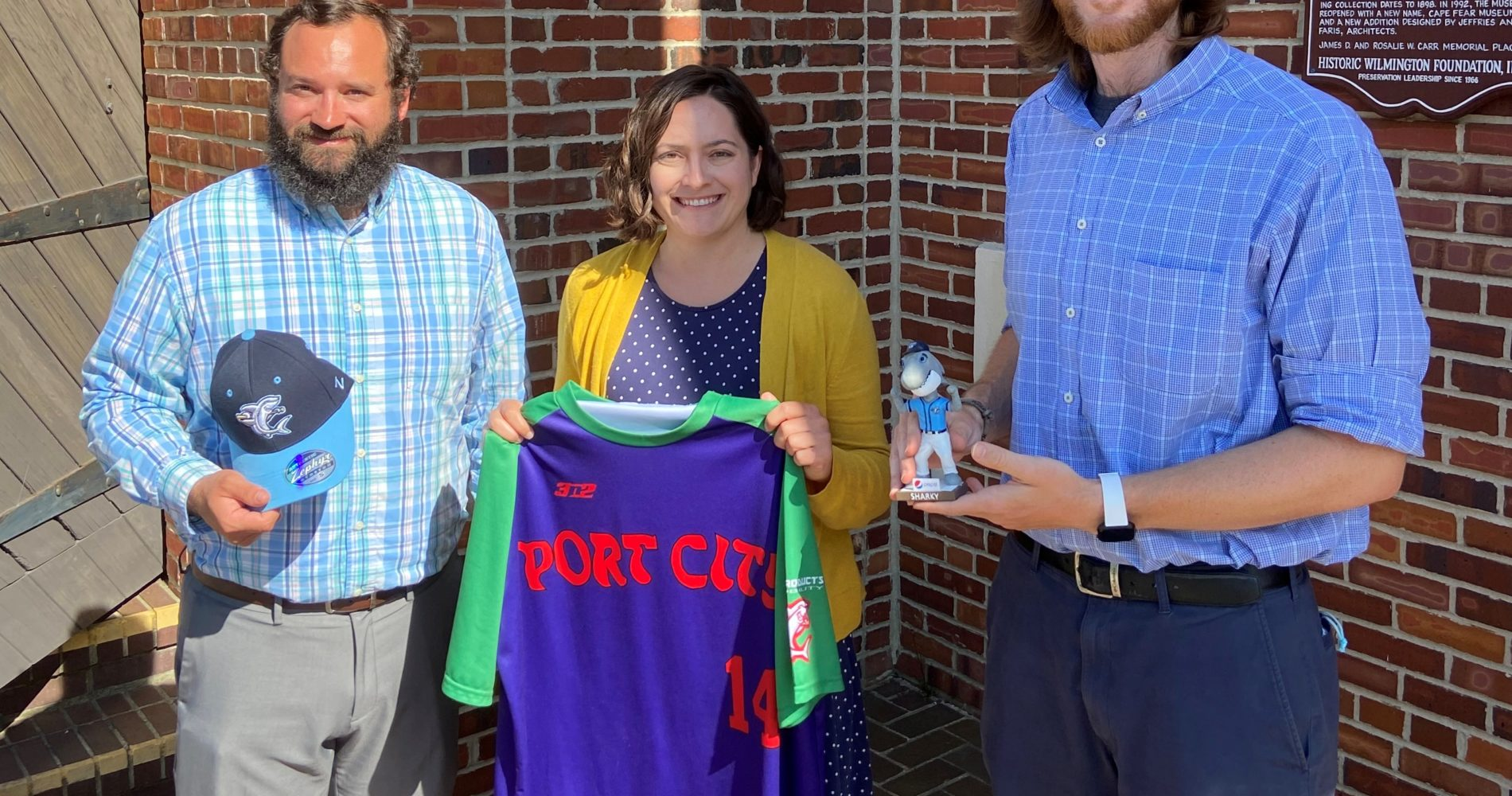 Sharks donate items to Cape Fear Museum